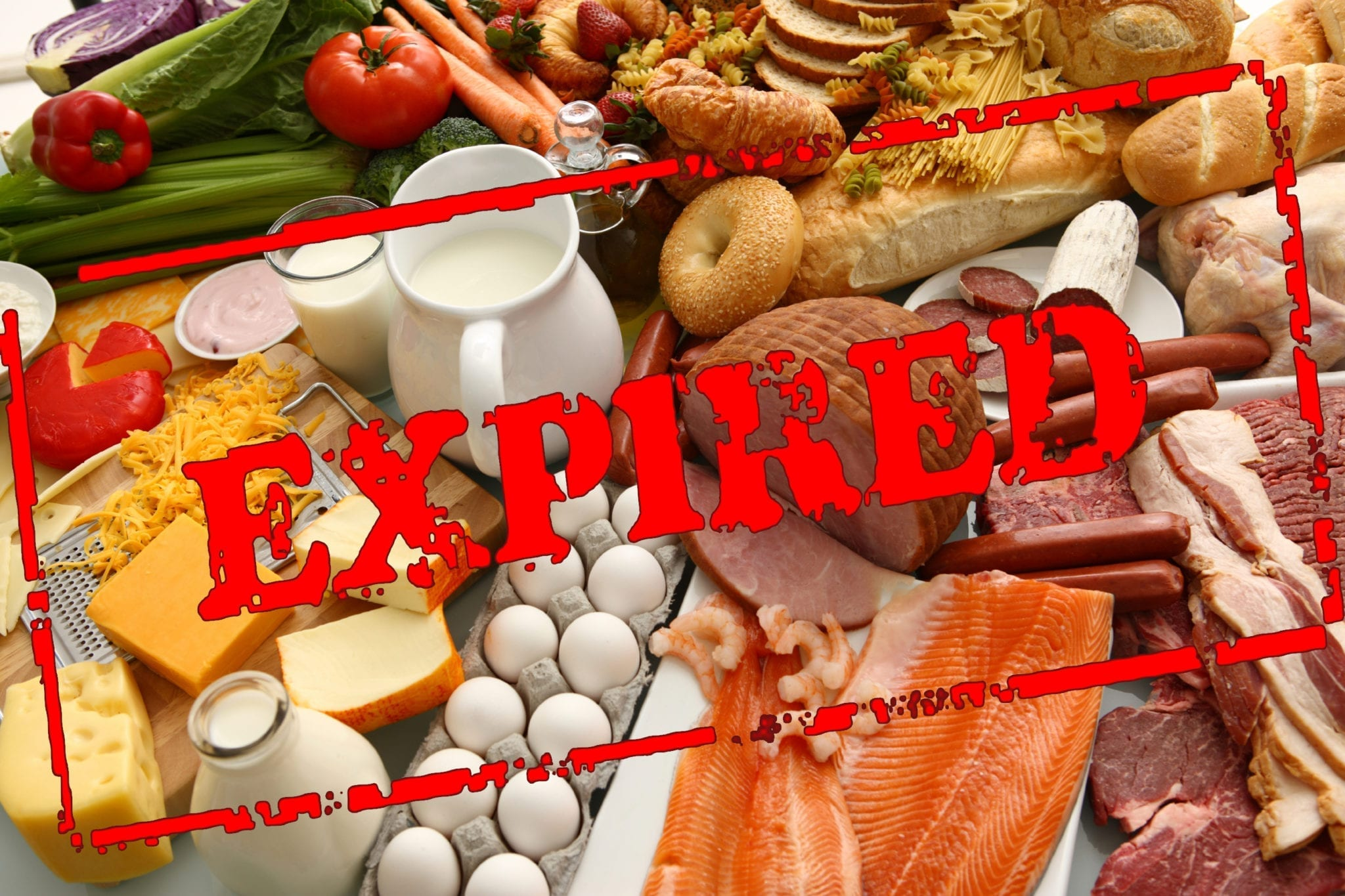 Remove any expired foodstuffs in shelves, not only TBS work