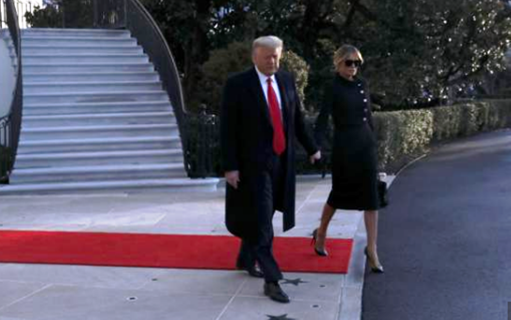 Trump leaves White House, marking end of an era